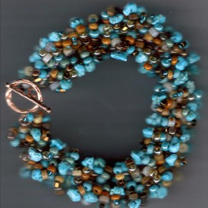 Turquoise Nuggets Multistrand Bracelet Project Idea