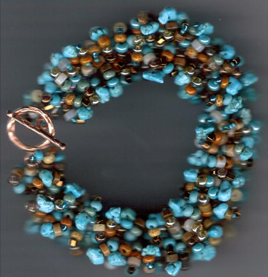 Turquoise Nuggets Multistrand Bracelet Project