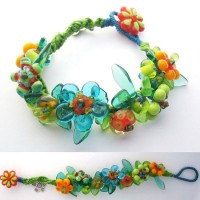 Spring Flowers Knotted Lampwork Bracelet Project