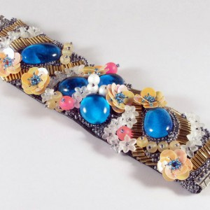 Embroidered Floral Bracelet Jewelry Idea