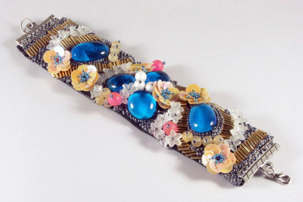 Embroidered Floral Bracelet Project