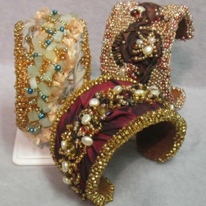 Bead Embroidered Cuff Bracelets Jewelry Idea