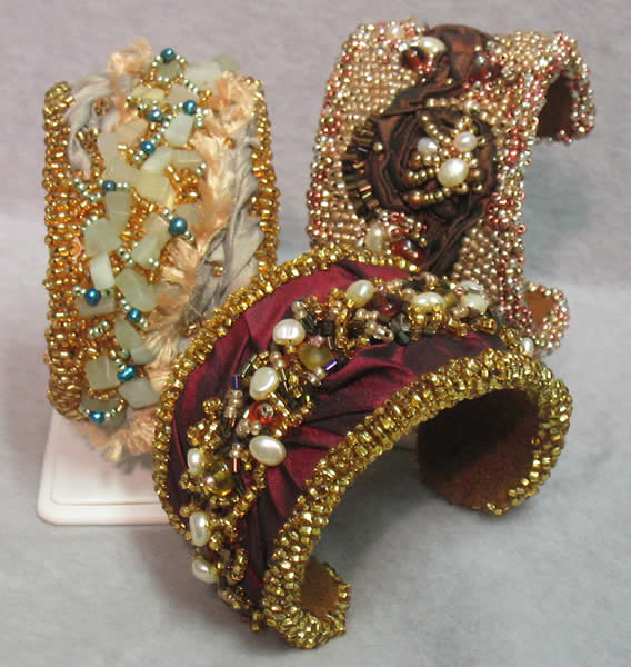 Bead Embroidered Cuff Bracelets Project