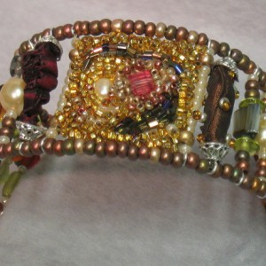 Bohemian Beaded Cuff Jewelry Idea