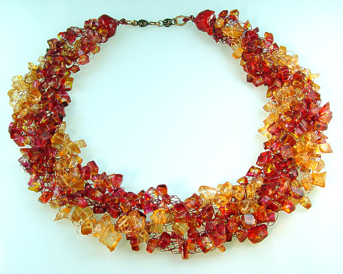 Sunset Crocheted Wire Necklace Project