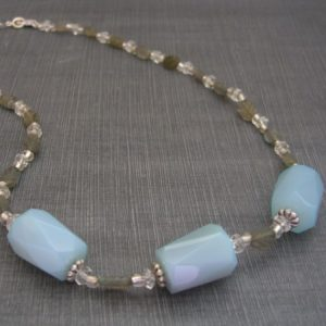 Blue Agate And Labradorite Necklace Jewelry Idea