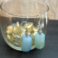 Blue Agate Earrings Project
