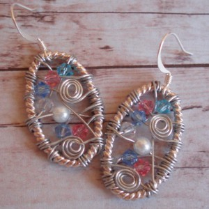 Oval Wire Wrapped Crystal Earrings Project