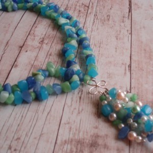 Blue Love Necklace Jewelry Idea