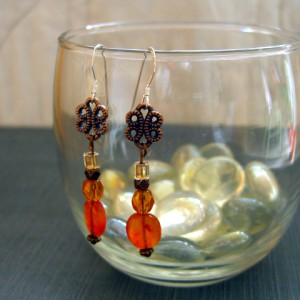 Carnelian Earrings Project