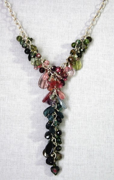 Tourmaline Goddess Cluster Necklace Project