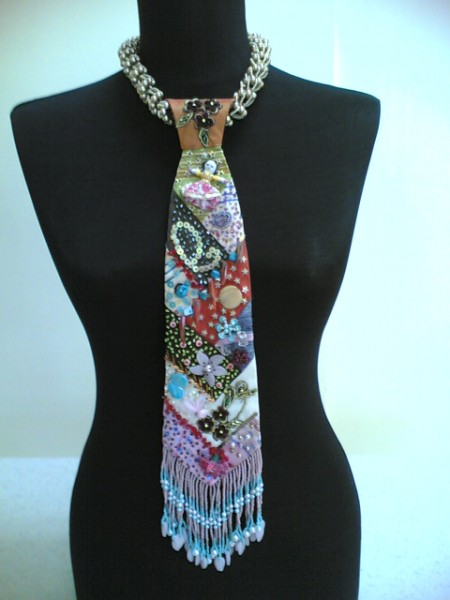 Bead Embroidery Necktie Necklace Jewelry Making Ideas