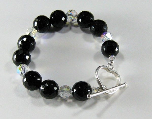 Onyx And Crystal Bracelet Project