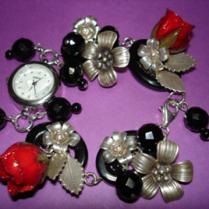Chunky Silver And Onyx Watch Project