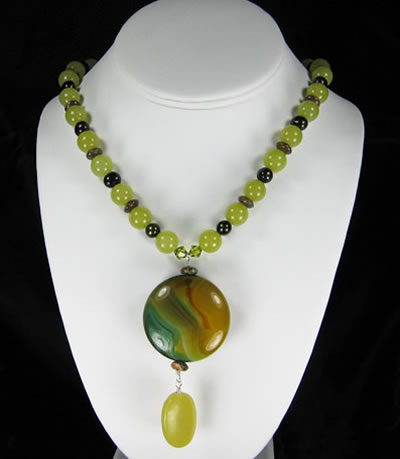 Olive Jade And Queensland Agate Necklace Project