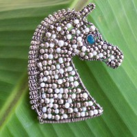 Mosaic Horse Bust Pendant Project
