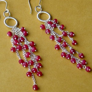 Ruby Wedding Earrings Project