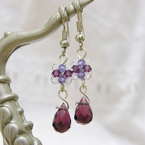 Purple Teardrop Earrings Project