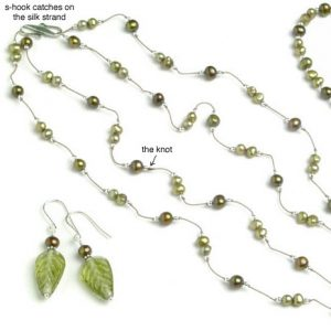 "Green Leaf ""Tin Cup"" Necklace Jewelry Idea"