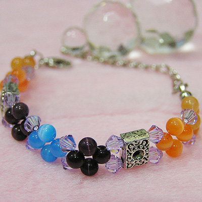 Swarovski Color Block Bracelet Project