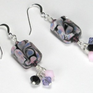 Lampwork And Crystal Dangle Earrings Jewelry Idea