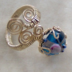 Lampwork Bead Ring Project Idea