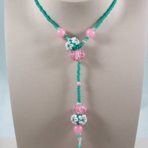 Teal & Pink Looped Over Pendant Jewelry Idea