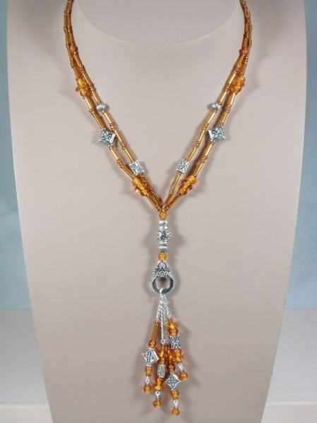 Amber Double Strand Pendant Necklace Project