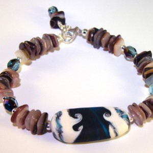 Ocean Waves Bracelet Jewelry Idea