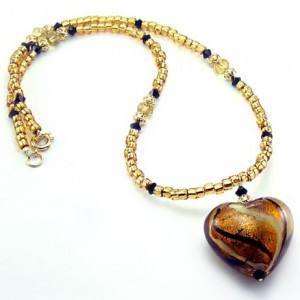 Beaded Gold Heart Necklace Project