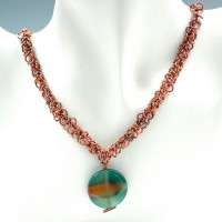 Shaggy Agate Chain Mail Necklace Project