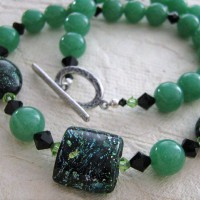 Amazonite And Lampwork Necklace Project