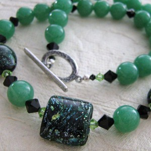 Amazonite And Lampwork Necklace Jewelry Idea