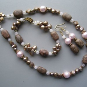 Pink Champagne Necklace Set Jewelry Idea