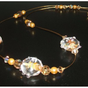 Topaz Sunset Floating Necklace Jewelry Idea