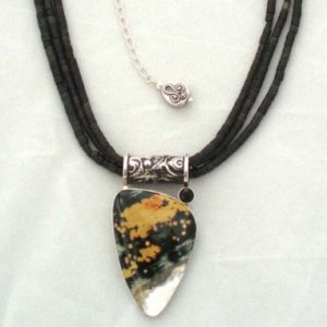 Black Jade With Ocean Jasper And Black Onyx Necklace Project