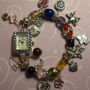 Hearts And Love Watch Charm Bracelet Project Idea