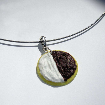 New York Black & White Cookie Necklace Project