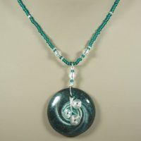 Teal & Silver Swirls Necklace Project