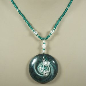 Teal & Silver Swirls Necklace Project Idea