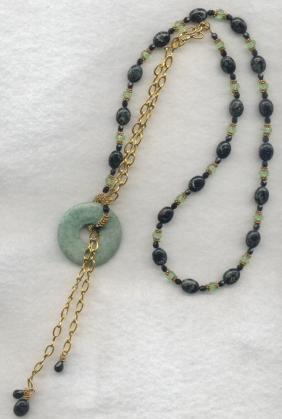 Green Lariat Necklace Project