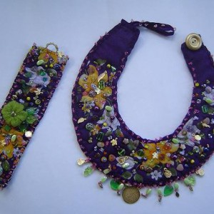 Fabric Necklace Set Jewelry Idea