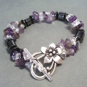 Amethyst Chip & Hematite Bracelet Jewelry Idea