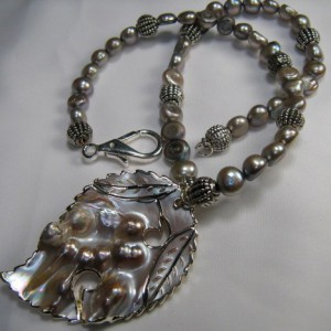 Sterling Silver Mabe Pearl Necklace Project