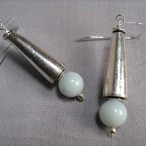 Amazonite Sterling Cone Earrings Project