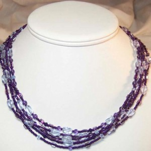 Shades Of Purple Necklace Project Idea