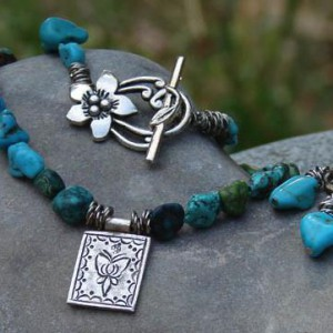 Turquoise Butterfly Necklace Jewelry Idea