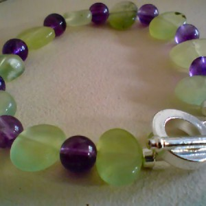 Iona Prehnite and Amethyst Bracelet Project