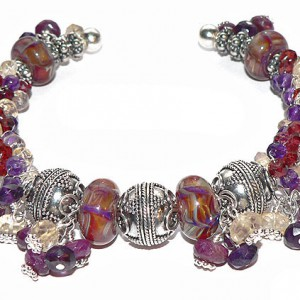 Rainbow of the Sun Lampwork Seed Bead Bracelet Project Idea