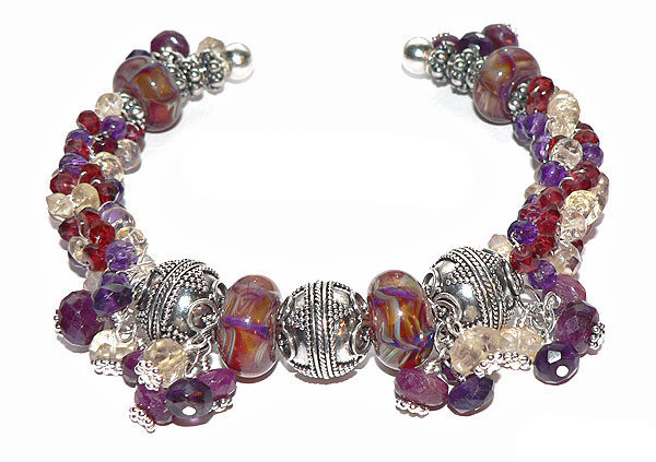 Rainbow of the Sun Lampwork Seed Bead Bracelet Project
